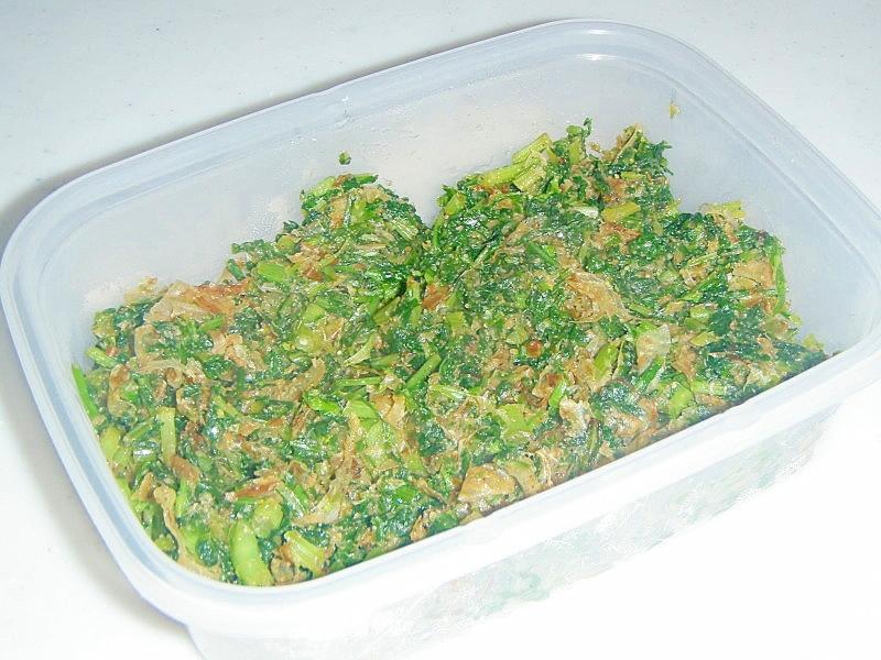 便利★かぶの葉の常備菜