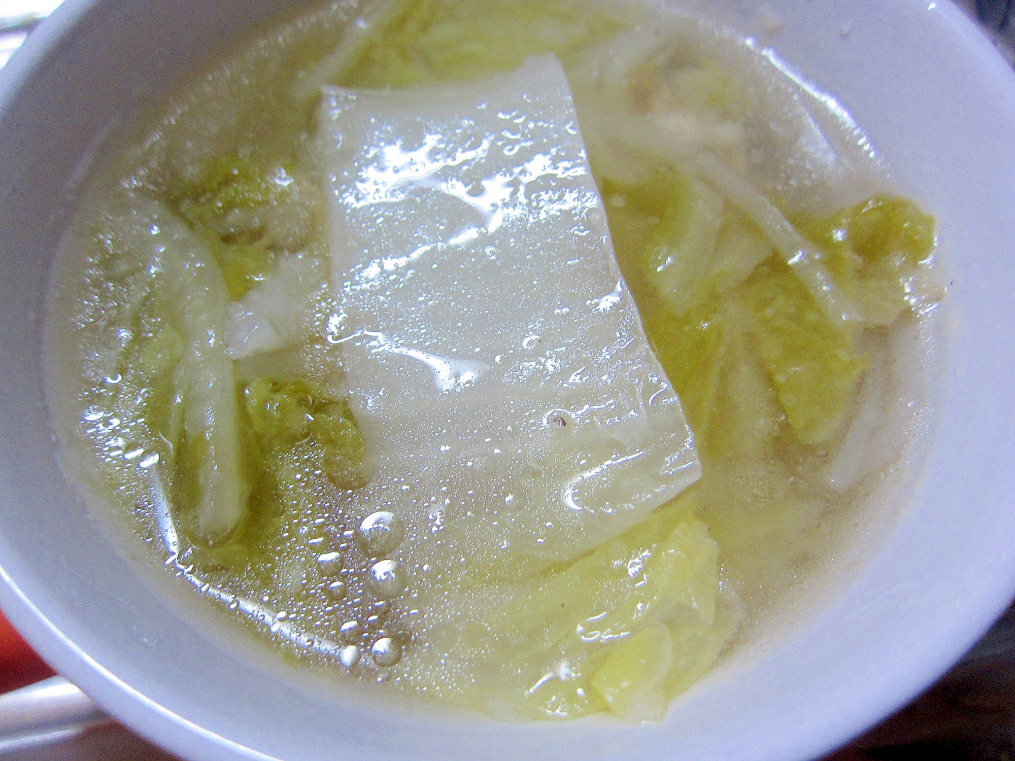 白菜とベーコンのスープ☆