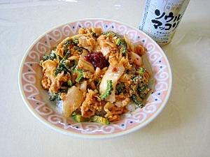 ゴーヤー豚キムチ丼