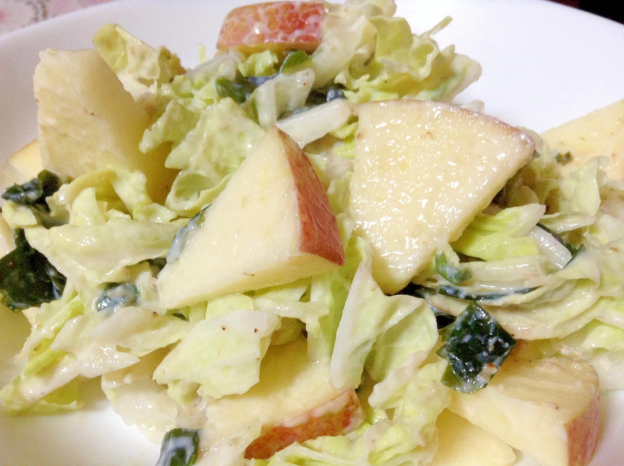 つ~んっと♪白菜とりんごの和風サラダ
