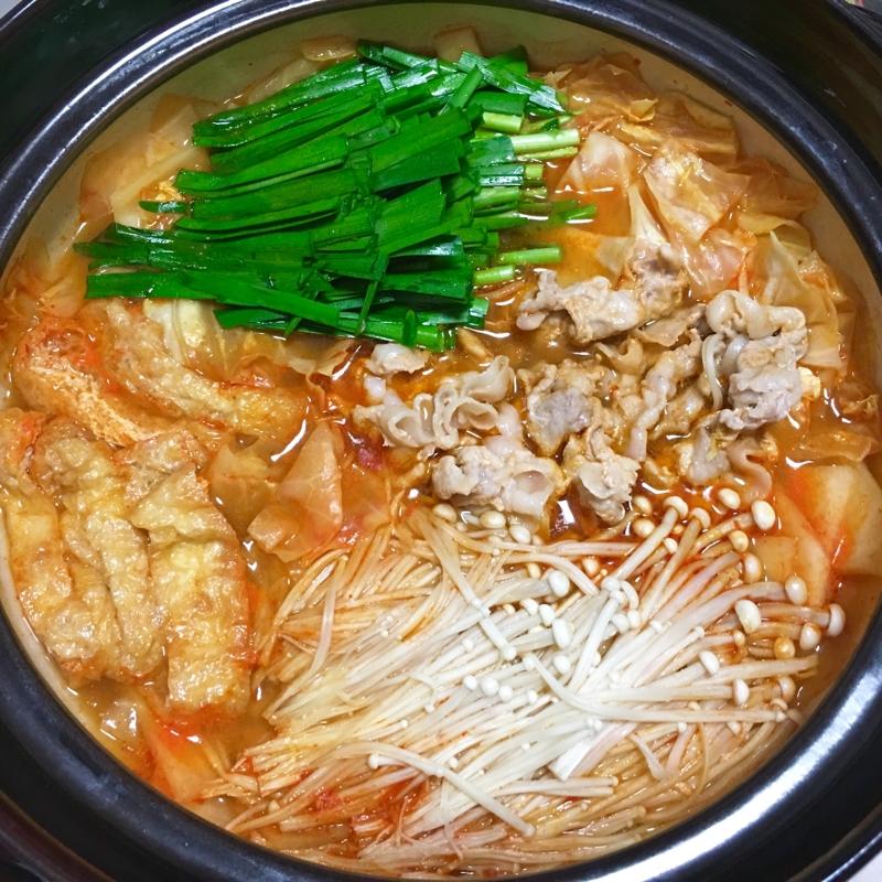 鍋スープでキャベツ消費♪大根えのきの豚キムチ鍋♡ レシピ・作り方