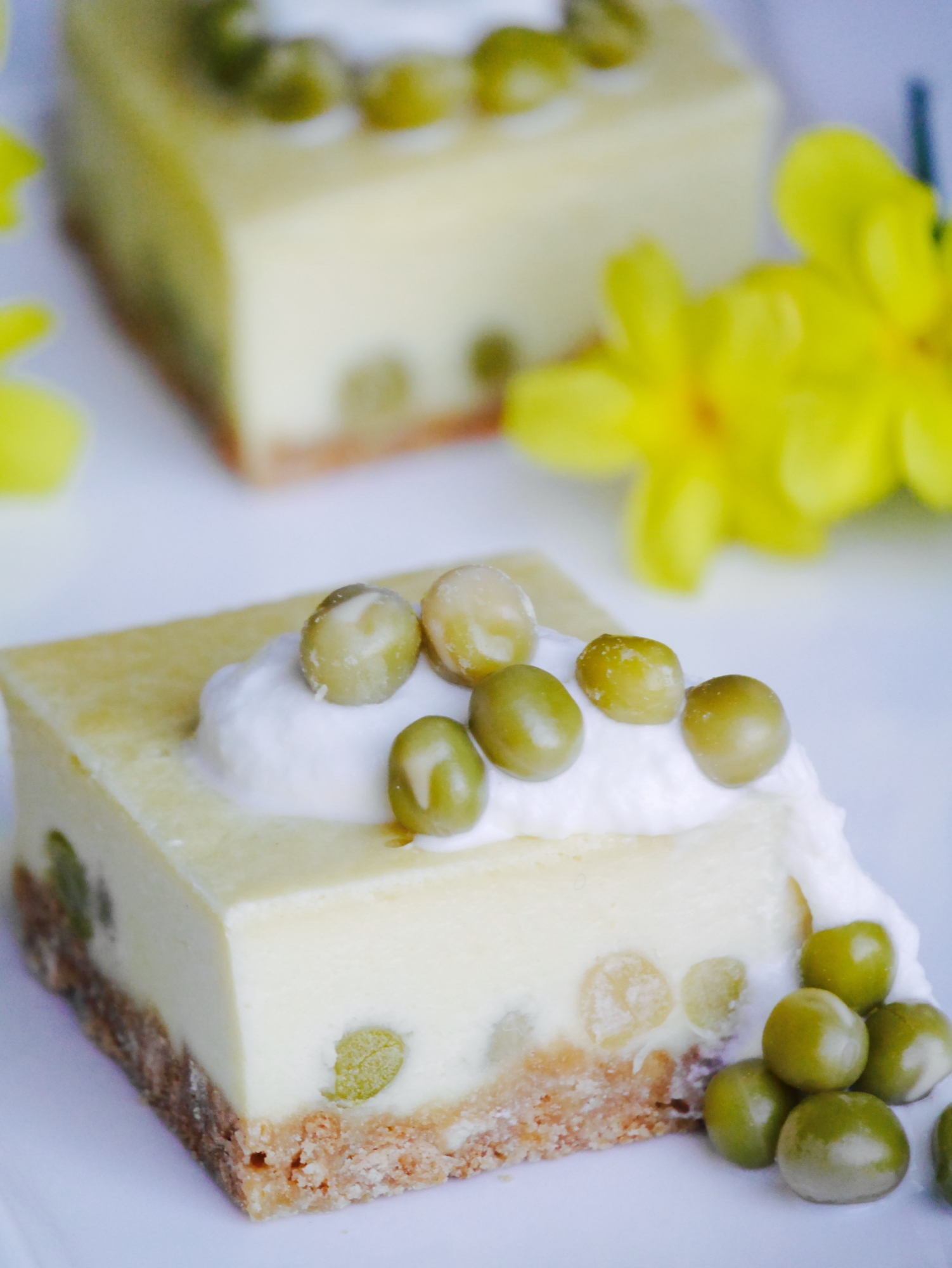 2. うぐいす豆のチーズケーキ