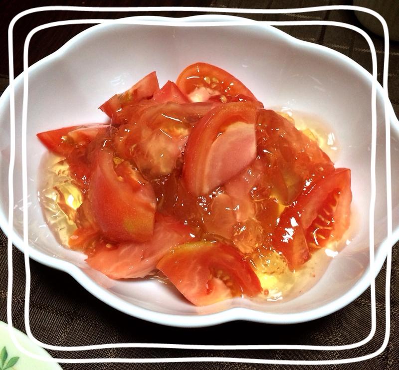 キラキラとまとサラダ☆はちみつレモン風味
