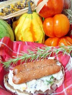 サイボクしそウインナーとポテトサラダのパン☆