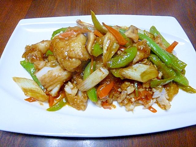 魚料理も簡単に、むきカレイの甘酢炒め