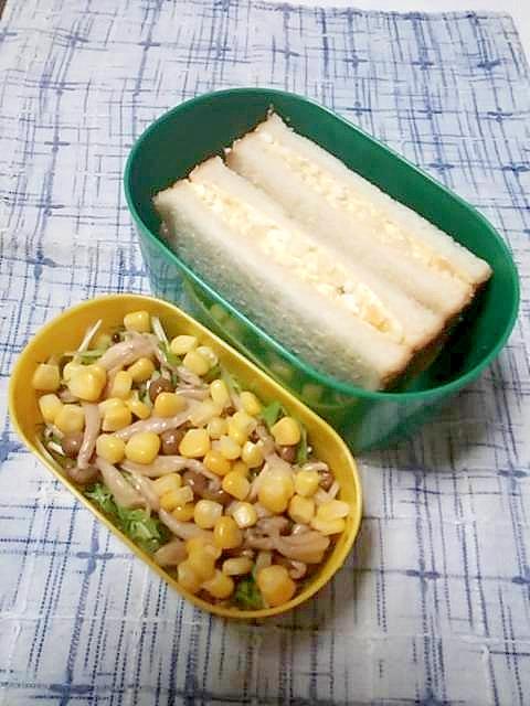 ☆たまごサンド&コーンサラダ弁当☆