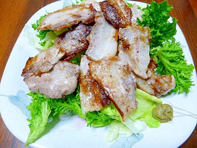 シンプルに、豚ばら肉&柚子胡椒