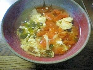 トマトの玉子スープ