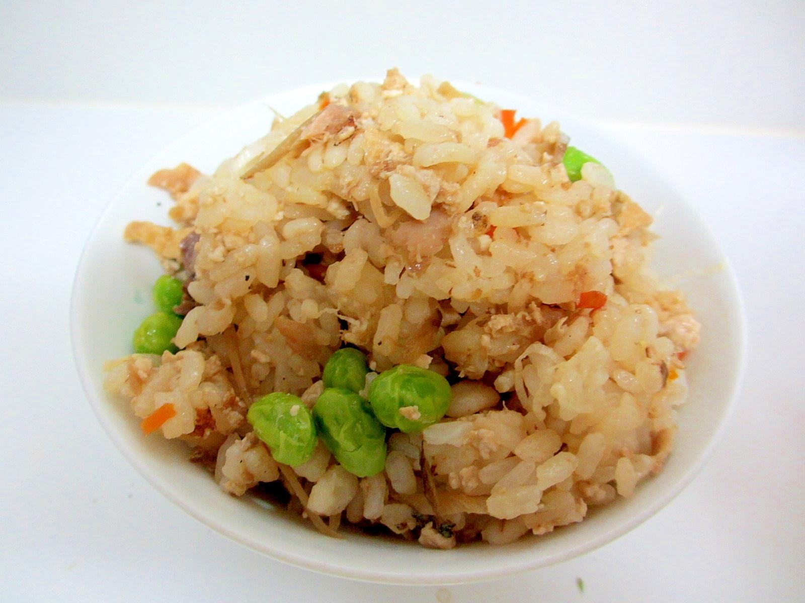 豆腐と枝豆の混ぜご飯