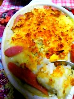里芋をグラタン皿・de