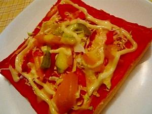 サラダでピザマヨトースト