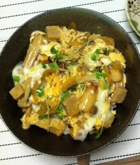 簡単ヘルシー♪卵と高野豆腐のどんぶり☆