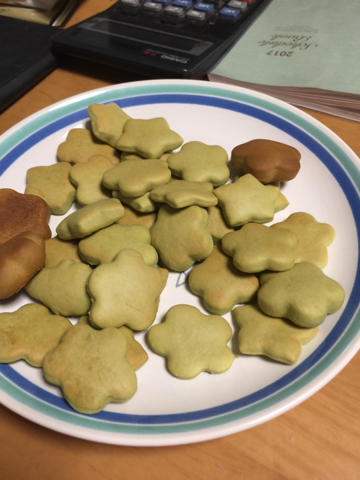 10. 青汁入り抹茶でヘルシー抹茶クッキー