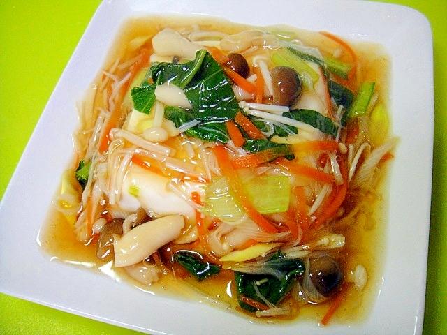 湯豆腐の野菜あんかけ
