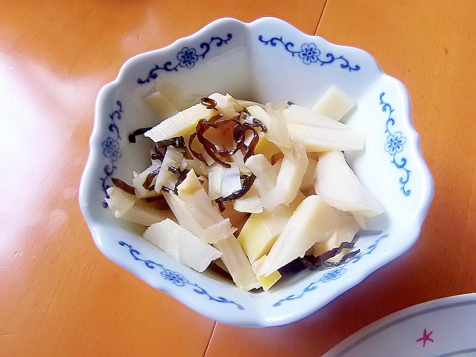 タケノコの塩こぶ和え
