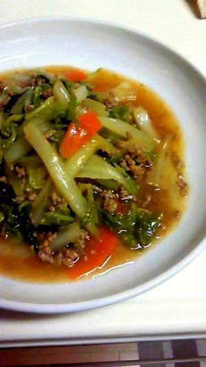 冬のお野菜、白菜で。麻婆白菜