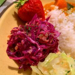 紫キャベツと根菜の柚子コールスロー