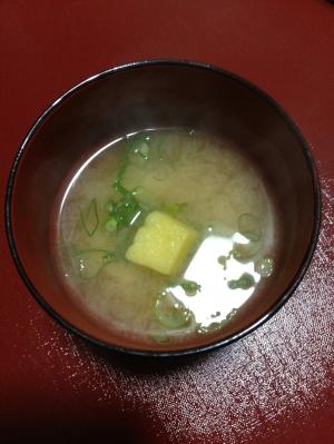 即席!焼き芋入り味噌汁