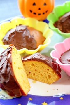 糖質オフ★シナモンチョコとかぼちゃのカップケーキ