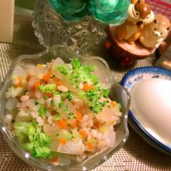 ぷちころ三色大麦サラダ