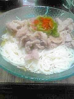 豚しゃぶしゃぶ素麺