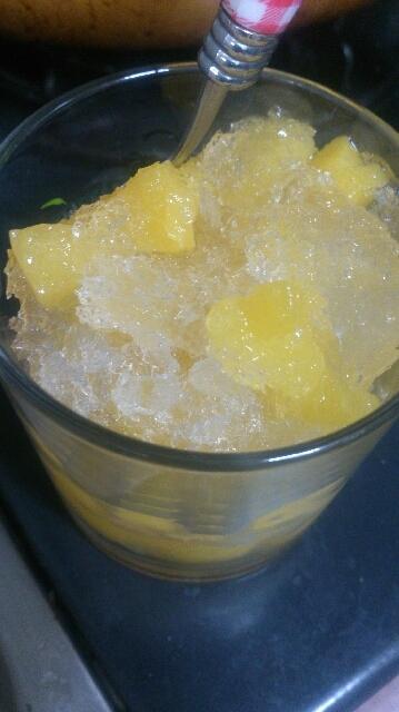 フルーツ缶と水で★シャーベット