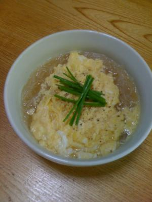 簡単ヘルシー☆春雨スープ