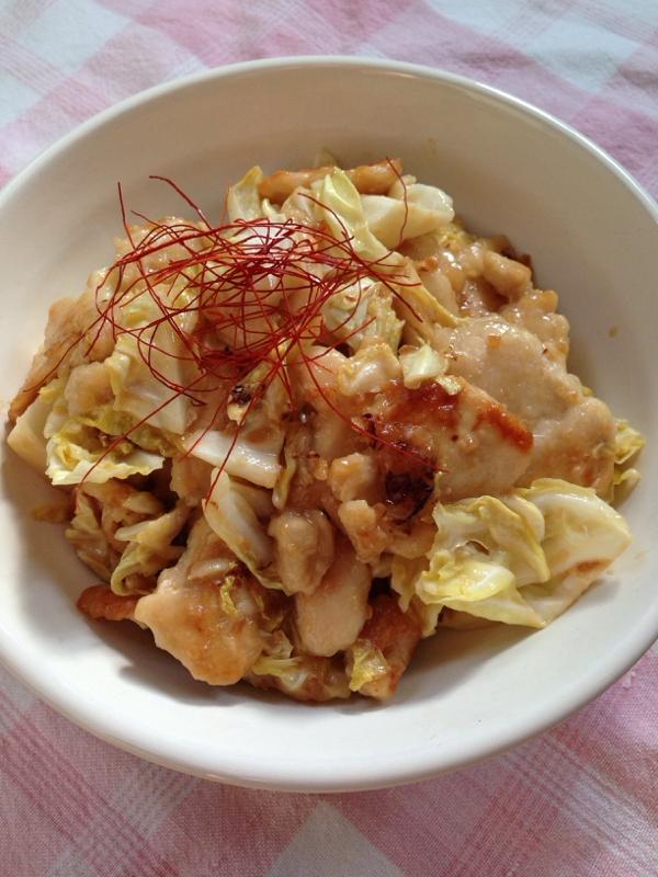 醤油麹de味噌マヨ鶏キャベ炒め♪