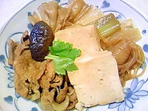 懐かしい豚肉豆腐