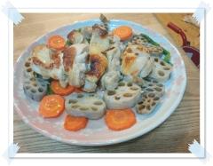 塩麹鳥と野菜のオーブン焼き