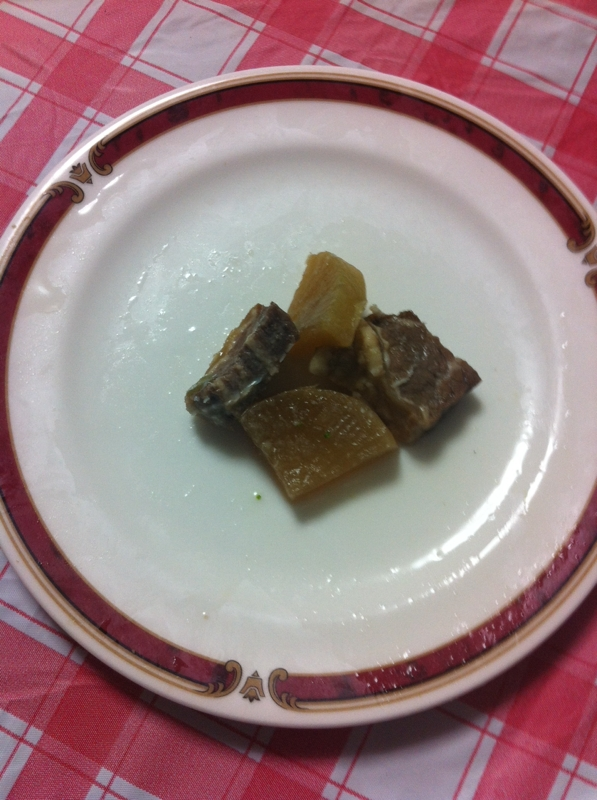 ボリューム満点豚かたまり肉&大根の炒め煮