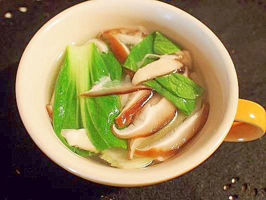 青梗菜と椎茸☆