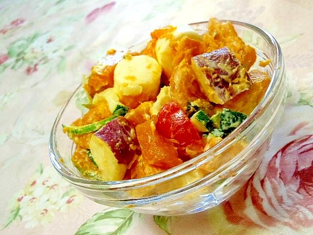 キャンディチーズと旬野菜のマヨネーズサラダ