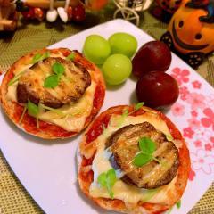 グリル茄子のピザマヨ*マフィントースト