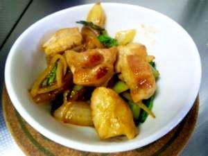 お弁当に簡単!小松菜と鶏肉の酢豚風