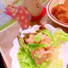 桜でんぶのポテトサラダ