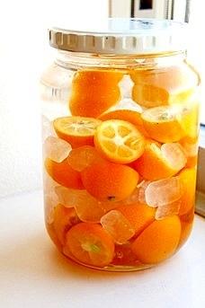 冬の愉しみ、甘さ控えめ、爽やか金柑酒