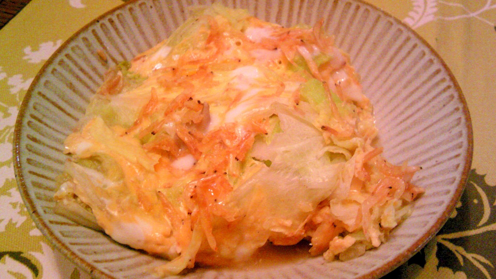 白菜・舞茸・干しエビの醤油麹卵とじ