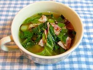 簡単あっさり、キャベツとベーコンのスープ