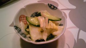 新生姜で野菜の浅漬け