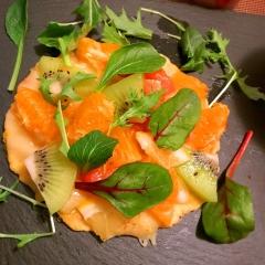 フルーツいっぱいのスイチリタコスピザ