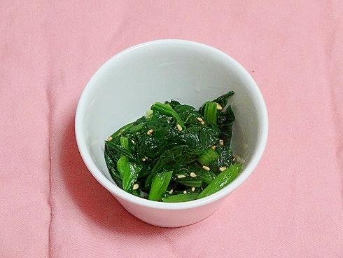 うちの副菜「「だし巻きの素」で小松菜のお浸し」
