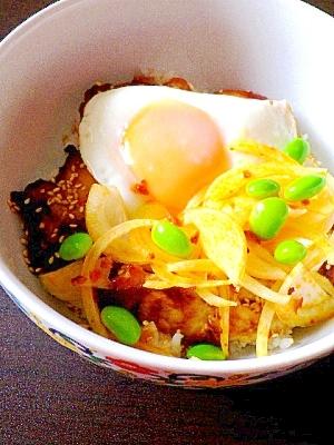 鶏のヨーグルト味噌漬け丼
