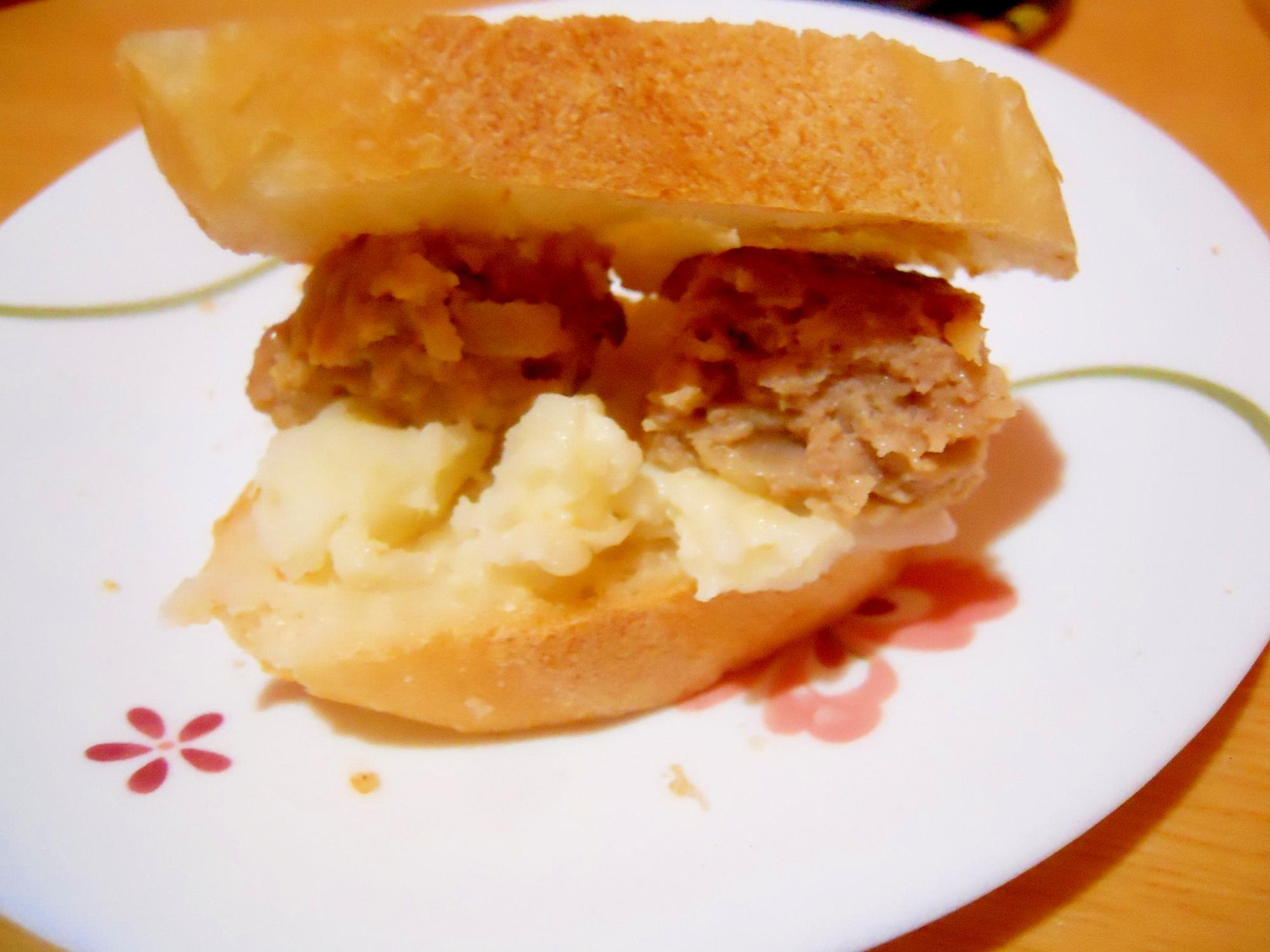バケットバーガー☆ハンバーグ&マッシュポテト