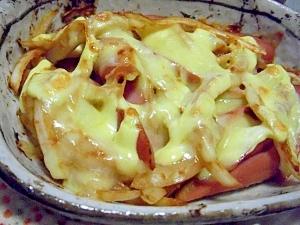 簡単♪ウィンナー×味噌玉ねぎのチーズ焼き♪