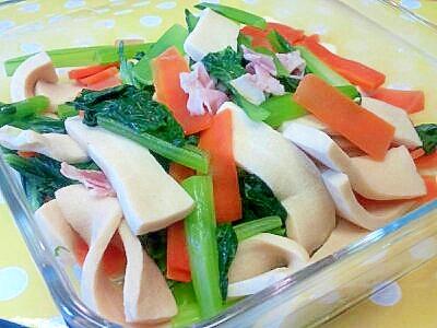 小松菜&高野豆腐の洋風煮浸し