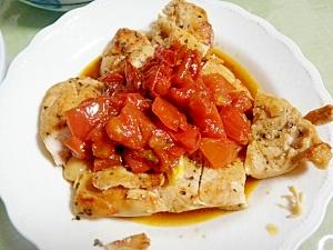 鶏むね肉のトマトソースかけ