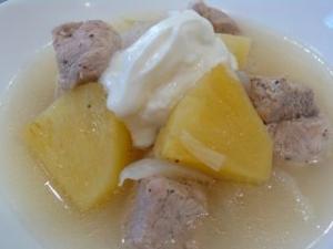 豚ヒレ肉とパイナップルの柔らか煮