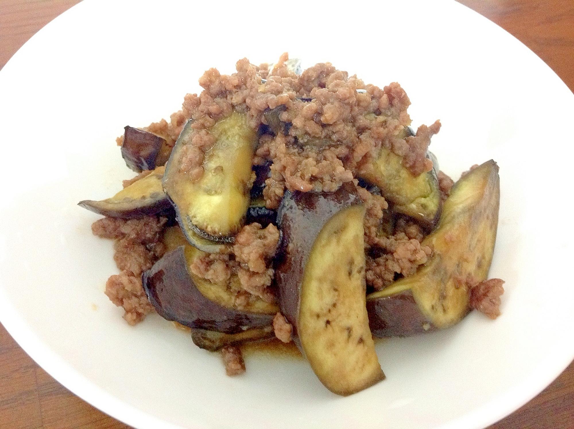 15分で主菜*茄子と挽肉の生姜焼き*