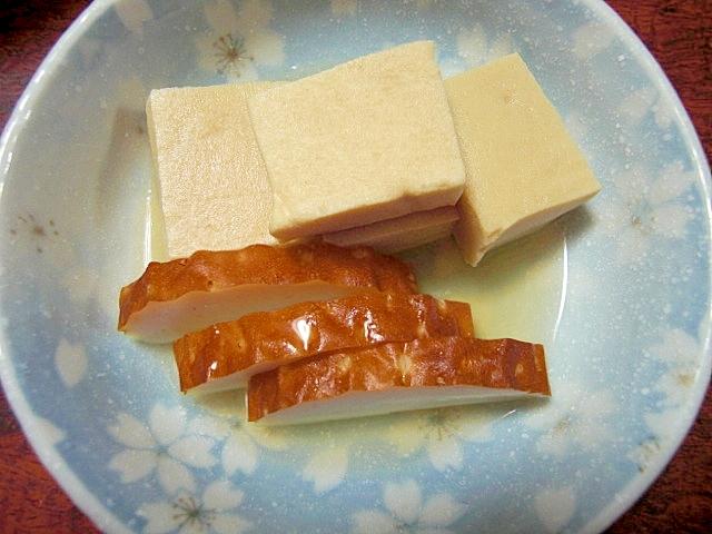 高野豆腐とカマボコ煮